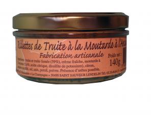 rillettes de truite produit de France