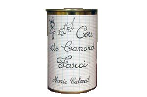 cou de canard farci au foie gras produit en France